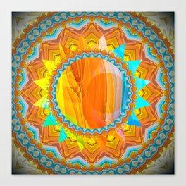 Moon and Sun Mandala Design Canvas Print