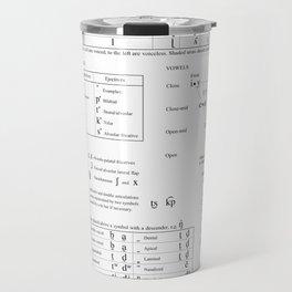 International Phonetic Alphabet IPA 2015 Travel Mug