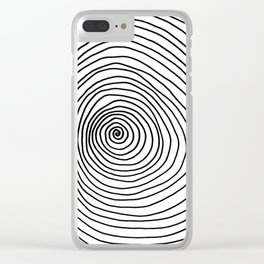 Spiral Clear iPhone Case