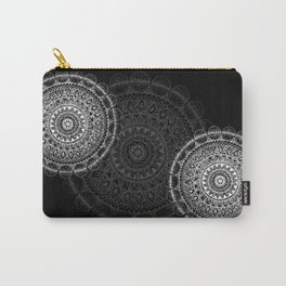 Silver Circle Mandala Carry-All Pouch