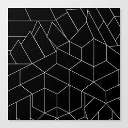 White Lines on Black III Canvas Print