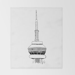 CN tower Throw Blanket