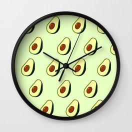 Affinity for Avocado  Wall Clock