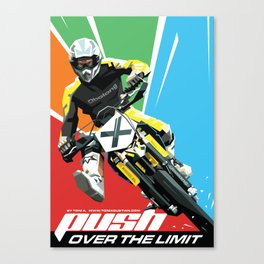 Motocross - Push Over The Limit Canvas Print
