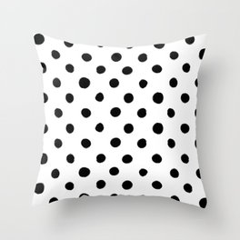 Modern Handpainted Abstract Polka Dot Pattern Throw Pillow