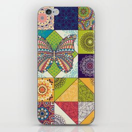 Butterfly and Mandala iPhone Skin