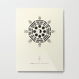 Bagua Poster With Eight Trigrams Metal Print