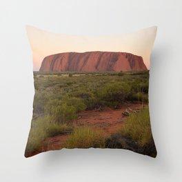 Sunset at Uluru Throw Pillow