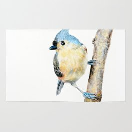 Tufted Titmouse by Teresa Thompson Rug