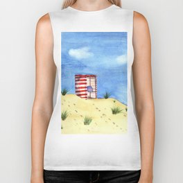 Summer Day at the Beach Biker Tank