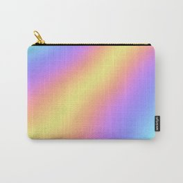 Colorful Gradient Abstract Rainbow Pattern Holographic Foil Carry-All Pouch