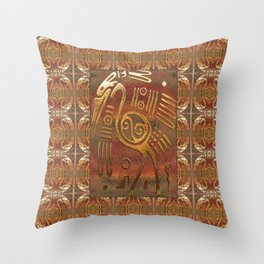 Mexicano Chrome Tribal Art Throw Pillow