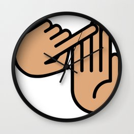 Mackinaw City Michigan Hand Map Wall Clock