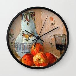 Pissarro - Apples & Wine (Detail) Wall Clock