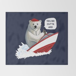 Sailing Outta Here Throw Blanket
