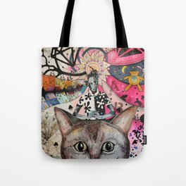 """Cat"" illustration Tote Bag"