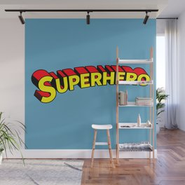 Superhero Wall Mural