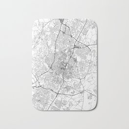 Austin White Map Bath Mat