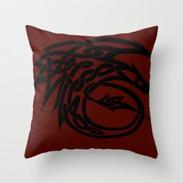 Celtic Knotwork Toothless (BLACK) Throw Pillow