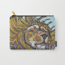 Lion in Lavender Painting Carry-All Pouch