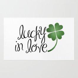 Lucky In Love | Four Leaf Clover Rug
