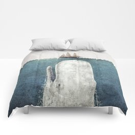 The Whale - vintage  Comforters