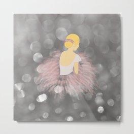 Blonde Ballerina Dancer Metal Print
