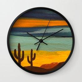 Saguaro Sunset Wall Clock