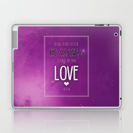 Only Through Love Laptop & iPad Skin