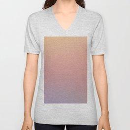 AFTER THOUGHTS - Minimal Plain Soft Mood Color Blend Prints Unisex V-Neck