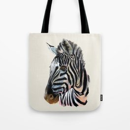 Zebra Painting Print - Safari Art Zebra Head Wall Art Tote Bag
