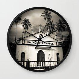 The Holy Cross Chapel of Anjuna, Goa, India Wall Clock