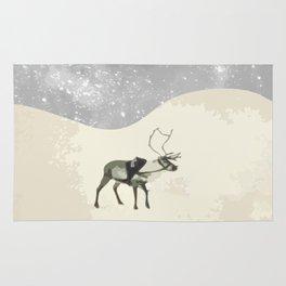 Deer in the snow Rug