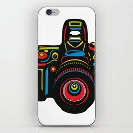 Black Camera iPhone Skin