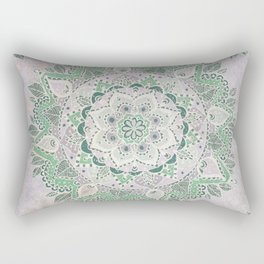 Spring Rain Mandala Rectangular Pillow
