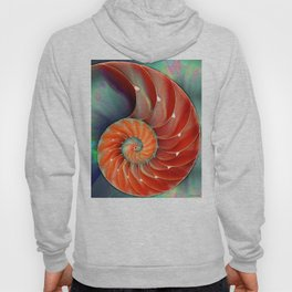Nautilus Shell - Nature's Perfection by Sharon Cummings Hoody