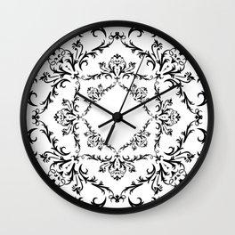 Abstract black ornament Wall Clock