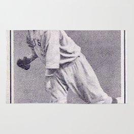 Babe Ruth Vintage baseball card Rug