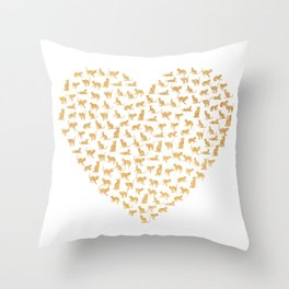Cats Lover Heart Throw Pillow