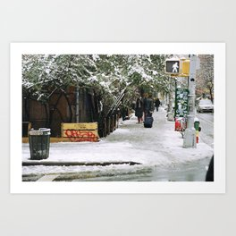 Snowy East Side (NYC) Art Print