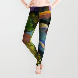 Evening on the river Leggings