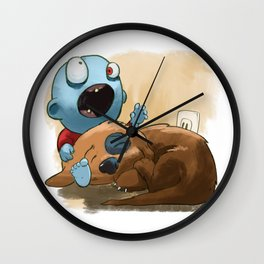 Zombies like to bite stuff too. Wall Clock