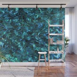 Abalone Shell   Paua Shell   Cyan Blue Tint Wall Mural