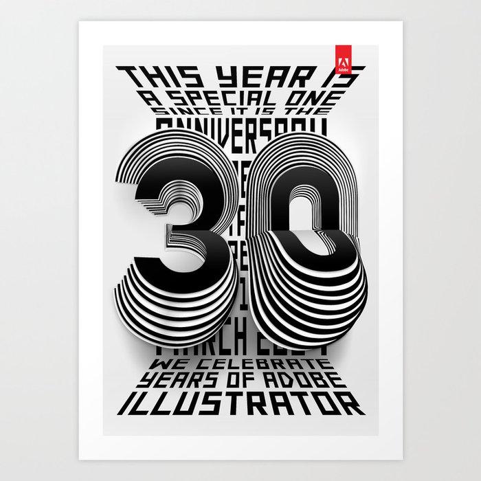 30 Years of Adobe Illustrator Art Print