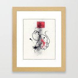 Open your veins Framed Art Print