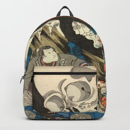 Utagawa Kuniyoshi - Takiyasha the Witch and the Skeleton Spectre Backpack