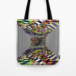 Colorblock box Tote Bag