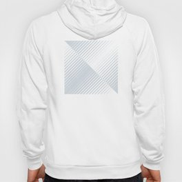 gradient stripes triangles in ice gray and white Hoody
