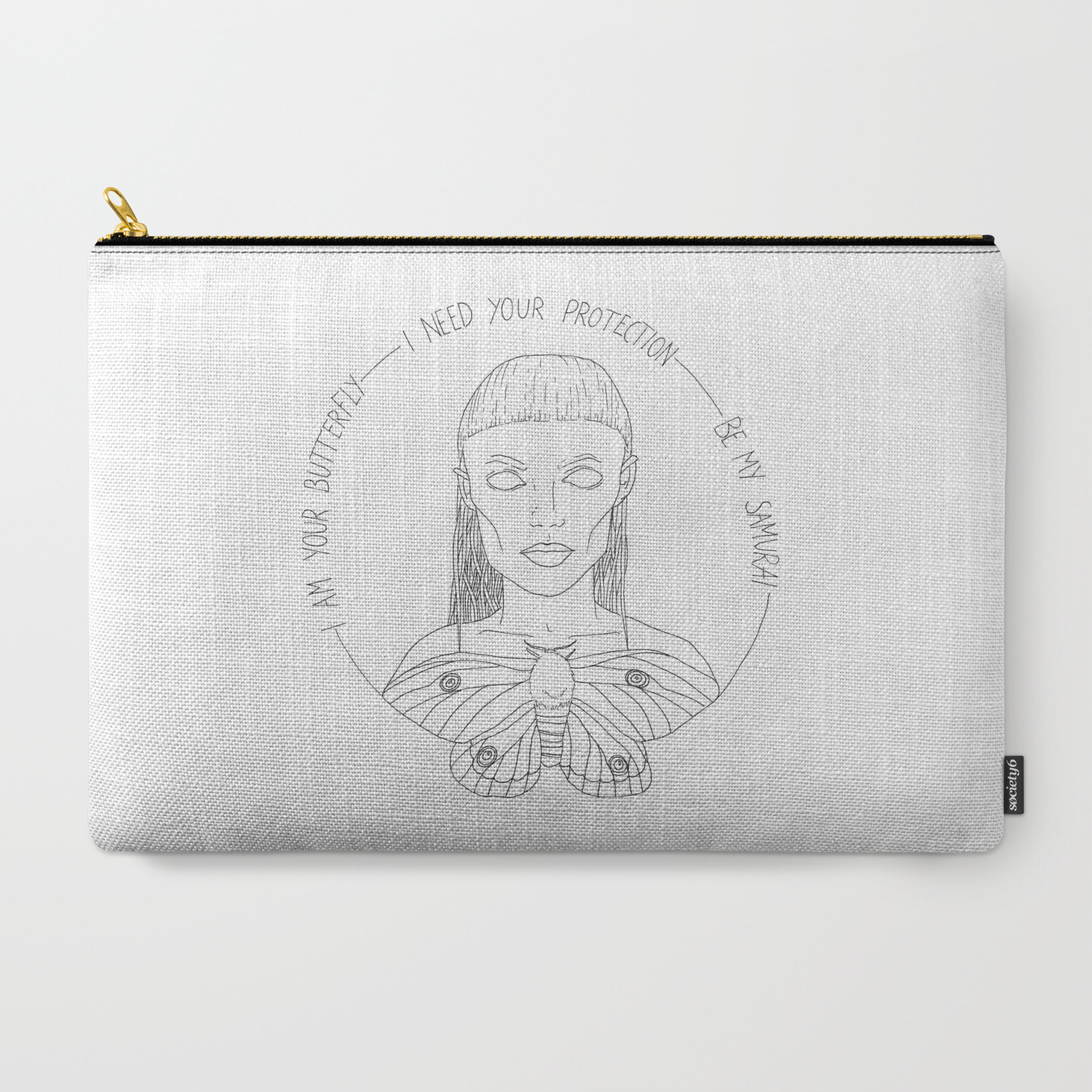 I Am Your Butterfly Carry All Pouch By Lucamueller Society6