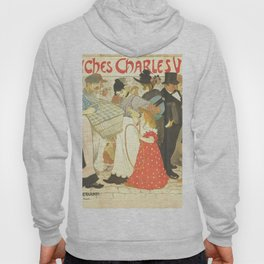"""Théophile Steinlen """"The Street (La rue), poster for the printer Charles Verneau"""" Hoody"""